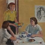 Aarre Heinonen: Kahvipöydässä, 1938. Kansallisgalleria / Ateneumin taidemuseo, kok. Hoving. Kuva: Kansallisgalleria / Hannu Aaltonen